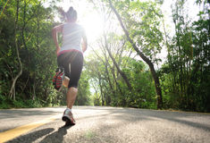 Healthy lifestyle fitness sports woman running Royalty Free Stock Image