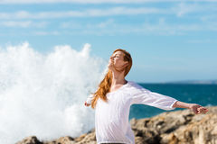Healthy lifestyle at the sea Stock Images