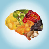 Healthy nutrition against dementia Royalty Free Stock Photo