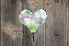 Heart hole Stock Photography