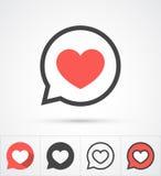 Heart in speech bubble icon. Vector Stock Photo