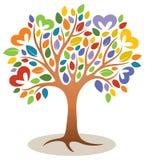 Heart Tree Logo Stock Photography