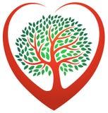 Heart tree logo Stock Photo