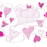 Hearts and patterns Royalty Free Stock Photos