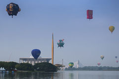 Heißluft-Ballon Putrajaya Stockfotos