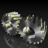 Helical gears Royalty Free Stock Photography