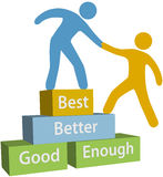 Help people good better best achievement Stock Photography