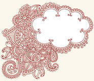 Henna Mehndi Paisley Cloud Doodle Design Royalty Free Stock Photo
