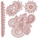 Henna Mehndi Paisley Doodles Royalty Free Stock Photo