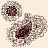 Henna Mehndi Paisley Flower Doodle Design Royalty Free Stock Photography