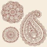 Henna Mehndi Paisley Flower Doodle Design Royalty Free Stock Photo