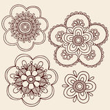 Henna Mehndi Paisley Flower Doodle Design Stock Photos