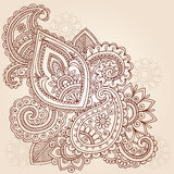 Henna Mehndi Paisley Tattoo Doodle Design Royalty Free Stock Photo