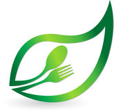 Herbal food logo Royalty Free Stock Images