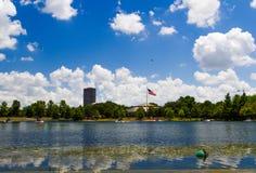 Hermann estaciona o lago, Houston, Texas, EUA Fotos de Stock