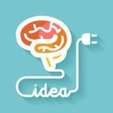 Hersenen en idee Stock Afbeelding