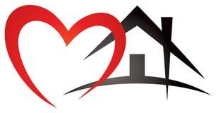 Herz-Haus-Logo Stockbilder