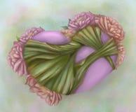 Herz und Blume Stockfotografie