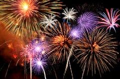 Het barsten van het vuurwerk Royalty-vrije Stock Afbeelding