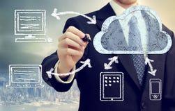 Het Concept van de Gegevensverwerking van de wolk Royalty-vrije Stock Afbeeldingen