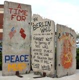 Het Fragment van de Muur van Berlijn Stock Foto
