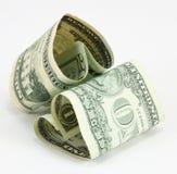 Het geld van de liefde Stock Fotografie