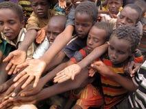 Het Kamp van de Vluchteling van de honger Stock Fotografie