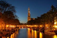 Het Kanaal van Prinsengracht in Amsterdam, Nederland Royalty-vrije Stock Foto's