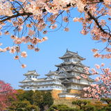 Het kasteel van Himeji, Japan Royalty-vrije Stock Afbeelding