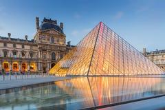 Het Museum van het Louvre in Parijs, Frankrijk Royalty-vrije Stock Fotografie
