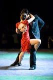Het paar van de hartstocht het dansen tango Royalty-vrije Stock Foto