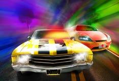 Het rennen van auto's Stock Foto's