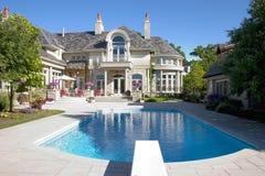 Het Schot van de Pool van het Huis van de luxe Royalty-vrije Stock Afbeeldingen
