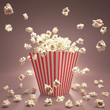Het Vliegen van de popcorn Royalty-vrije Stock Fotografie