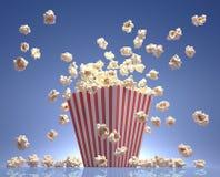 Het Vliegen van de popcorn Stock Foto