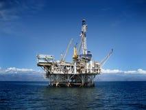 Het zee Platform van de Boring van het Booreiland Stock Afbeelding