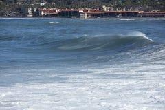 High Tide Coastal Waves Hitting the La Jolla California Shore Royalty Free Stock Photos