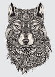 Highly detailed abstract wolf illustration Royalty Free Stock Photos