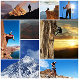 Hike collage Stock Photos