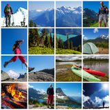 Hike collage Royalty Free Stock Photography