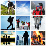 Hike collage Stock Photo