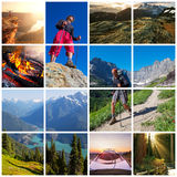 Hike collage Royalty Free Stock Photos