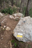 Hiking marker Stock Photo