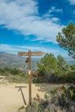 Hiking signpost Stock Image