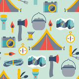 Hikingand camping equipment Stock Photography