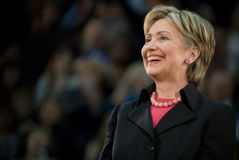 Hillary Clinton - Horizontale Glimlachende 2 Stock Foto's