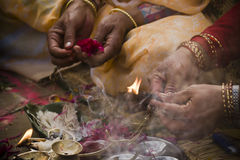 Hindu religious ceremony on the occasion of Shivaratri, Nepal Royalty Free Stock Photos