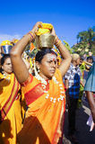 Hindu Women Devotees during Thaipusam festival Stock Photo