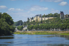 The historical city Chinon, France Royalty Free Stock Images