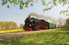 Historical train on island Rugen Royalty Free Stock Photos